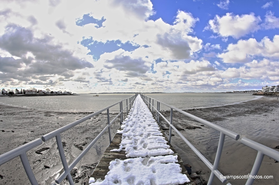 Yacht club pier - a day after the snowstorm